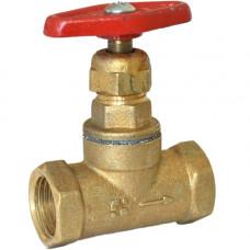 Клапан запорный латунь 15б1п Ду15 Ру16 муфта-муфта А200мм БАЗ