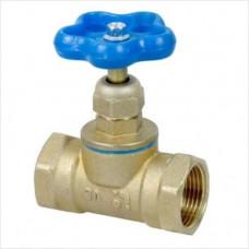 Клапан запорный латунь 15б3р/м Ду15 Ру16 муфта-муфта А100мм БАЗ