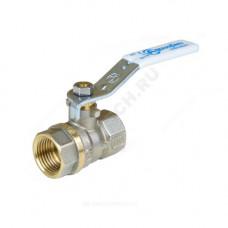 Кран шаровой латунь никель 1101 Standard Ду 15 Ру40 ВР полнопроходной рычаг Aquasfera 1101-01