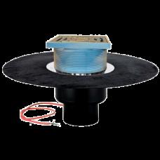 Воронка кровельная вертикальный выпуск Дн110 с решеткой с гидроизоляцией 62BH HL