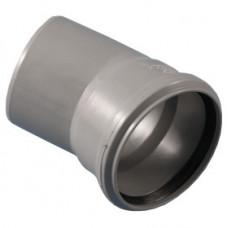 Отвод PP-H серый безнапорный Дн40х45 в/к