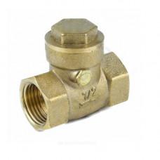 Клапан обратный латунь поворотный 3003 Ду 20 Ру40 Тмакс=100 оС ВР G3/4 заслонка латунь Aquasfera 3003-02