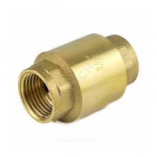 Клапан обратный латунь осевой 3001 Ду 32 Ру10 Тмакс=100 оС ВР G1 1/4 диск нейлон шток пластик Aquasfera 3001-04