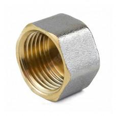 Заглушка латунь никель Ду 15 (1/2) ВР 9016 ГОСТ 32585-2013 Aquasfera 9016-01