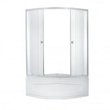 Кабина душевая 4-х сторонняя 90х90х194 полукруглуглый высокий поддон ER0609T-СЗ Неосан матов стекло
