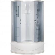 Кабина душевая 4-х сторонняя 90х90х215 полукруглуглый высокий поддон ER1509T-C4 Неосан тонир стекло