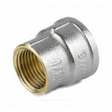 Муфта латунь никель переходная Ду 20х15 (3/4х1/2) ВР/ВР 9019 ГОСТ 32585-2013 Aquasfera 9019-01 .