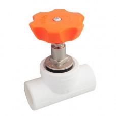 Клапан PP-R белый запорный Дн20 Firat Plastik