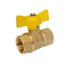 Кран шаровой газ Стандарт 230 аналог 11б27п Ду15 муфта-муфта бабочка 116012 ГАЛЛОП