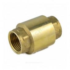 Клапан обратный латунь осевой 3002 Ду 15 Ру40 Тмакс=100 оС ВР G1/2 диск латунь шток латунь Aquasfera 3002-01