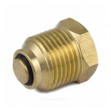 Клапан отсечной латунь 5009 для манометра/термоманометра 1/4х1/2 ВР/НР Aquasfera 5009-01