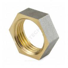 Контргайка латунь никель Ду 15 (1/2) ВР 9020 ГОСТ 32585-2013 Aquasfera 9020-01