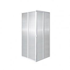 Кабина душевая 2-х сторонняя квадратная 80х80 хром без поддона прозрачное стекло