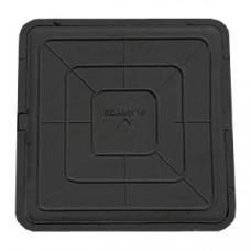 Люк полимерный Л685х60 30кН квадратный черный