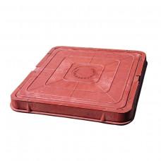 Люк полимерный Л685х60 30кН квадратный красный