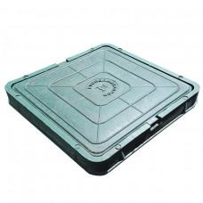 Люк полимерный Л685х60 30кН квадратный зеленый