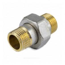 Соединитель латунь никель американка Ду 20 (3/4) прямой НР/НР 9014 ГОСТ 32585-2013 Aquasfera 9014-02 .