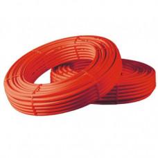 Труба PE-X кислородным барьером красная Дн16x2,0,10 барT