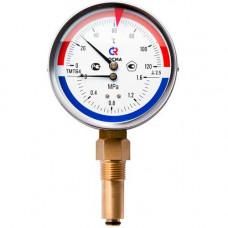 Термоманометр ТМТБр 120С 0-1,0МПа Дк80 радиальный Росма