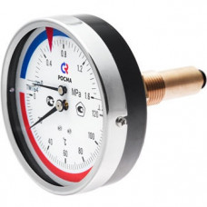 Термоманометр ТМТБо 120С 0-0,6МПа Дк80 осевой Росма