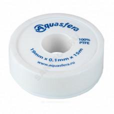 Лента ФУМ PTFE 6020 19ммх0,1ммх15м катушка среда: вода Aquasfera 6020-03