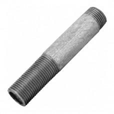 Сгон без комплекта оцинкованный Ду25 L=130мм КАЗ из труб по ГОСТ 3262-75