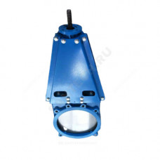 Задвижка шиберная двусторонняя чугун Ду 250 Ру10 межфл под эл/привод ISO F10 уплотнение: NBR