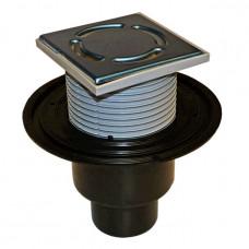 Трап PP с вертикикальным выпуском Дн50/100 с решеткой из нержавеющей стали 310N HL