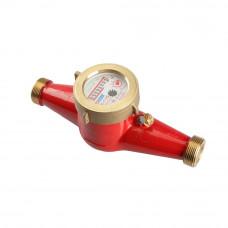 Счетчик для горячей воды МЕТЕР ВК-ГИ/25 импульсный, со штуцерами, латунный корпус