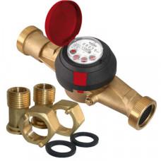 Счетчик для горячей воды ВСГН-32 Ду32 Т150C с наружной резьбой в комплекте Тепловодомер