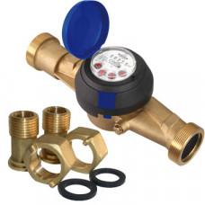 Счетчик для холодной воды ВСХН-32 Ду32 Т50C с наружной резьбой в комплекте Тепловодомер