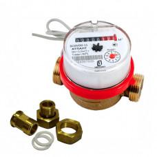 Счетчик горячей воды импульсный ВСКМ 90-15 ГД Ду15 L=80 Т90С 10л в комплекте ПК Прибор