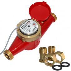 Счетчик для горячей воды с импульсным выходом ВСКМ 90-25 ГД Ду25 Ру10 Т120С в комплекте ПК Прибор