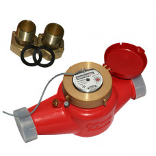Счетчик для горячей воды с импульсным выходом ВСКМ 90-50 ГД Ду50 Ру10 Т120С муфт ПК Прибор