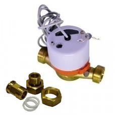 Счетчик для горячей воды с импульсным выходом ВСТ-15 Ду15 L=110 Т90C 1л/им в комплекте Тепловодомер